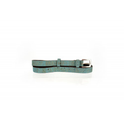 46_turquoise cork and leather belt