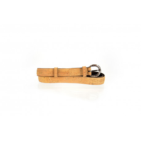 47_natural cork and leather belt