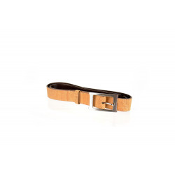 51_natural cork and leather belt