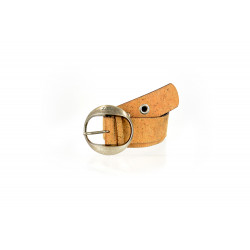 59_natural cork and leather belt