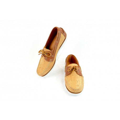 Cork boat shoes camel