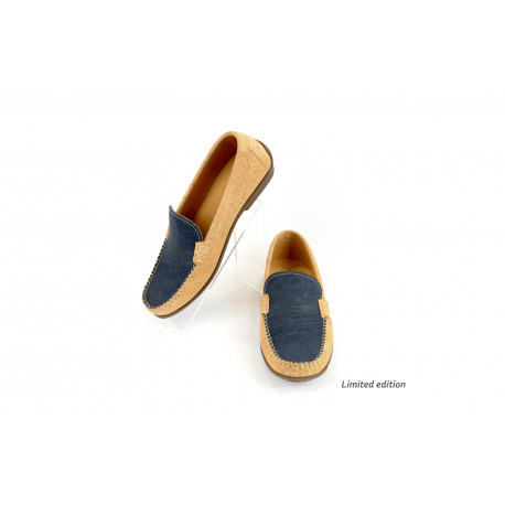 Cork loafers blue