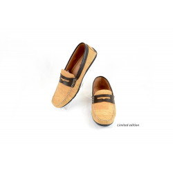 Cork loafers brown